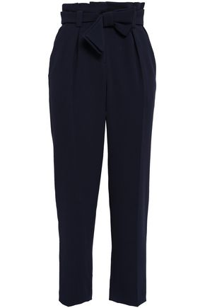 CLAUDIE PIERLOT Belted crepe tapered pants