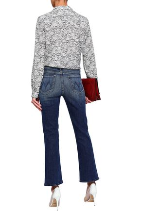 MOTHER High-rise kick-flare jeans