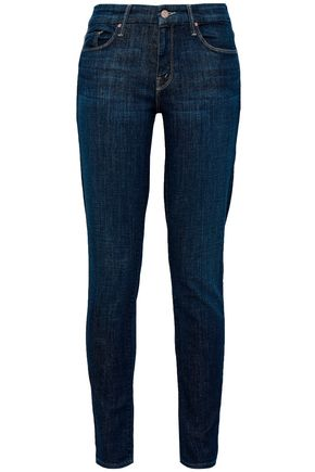 MOTHER Faded mid-rise skinny jeans