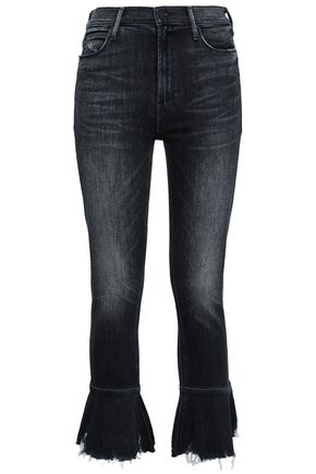 MOTHER Faded high-rise kick-flare jeans