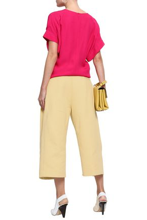MARNI Cropped cotton-twill wide-leg pants