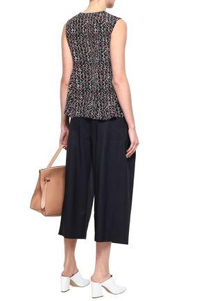 MARNI Cropped wool and silk-blend wide-leg pants