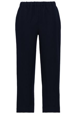 MARNI Linen and wool-blend straight-leg pants