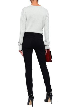 MOTHER Frayed high-rise skinny jeans