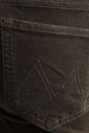 MOTHER Cotton-blend corduroy skinny pants