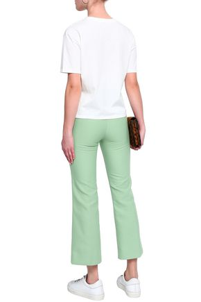 SANDRO Cotton-blend kick-flare pants