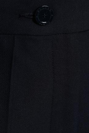 SANDRO Cotton-blend twill straight-leg pants