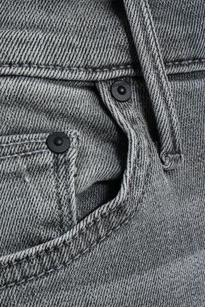 MOTHER Faded high-rise bootcut jeans
