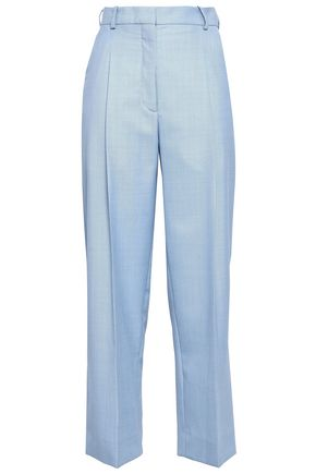 SANDRO Cropped woven wide-leg pants