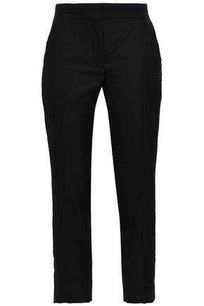 SANDRO Cropped woven slim-leg pants