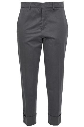 MARNI Cropped cotton and wool-blend tapered pants
