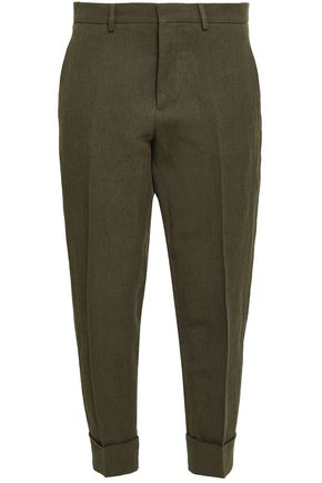 MARNI Linen and cotton-blend tapered pants