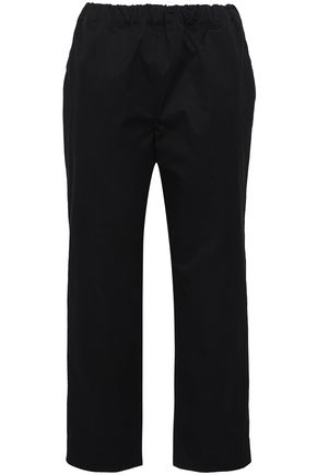 MARNI Cotton and wool-blend straight-leg pants