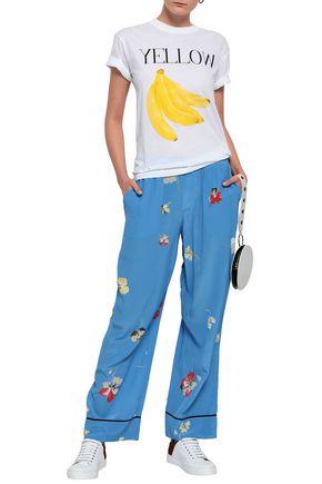 6e696d8e0c98c GANNI Joycedale floral-print washed-silk wide-leg pants
