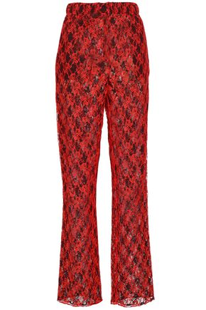 CHRISTOPHER KANE Lace straight-leg pants
