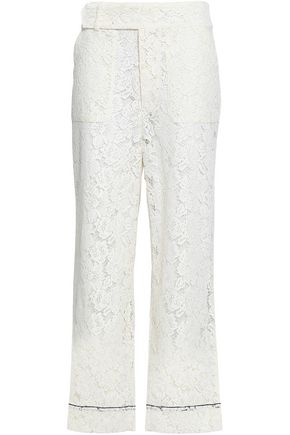 GANNI Jerome corded lace wide-leg pants