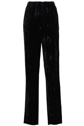 CHRISTOPHER KANE Crushed-velvet straight-leg pants