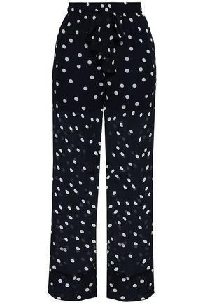 GANNI Marceau polka-dot georgette wide-leg pants