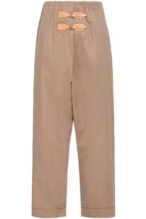 GANNI Cotton-gabardine wide-leg pants