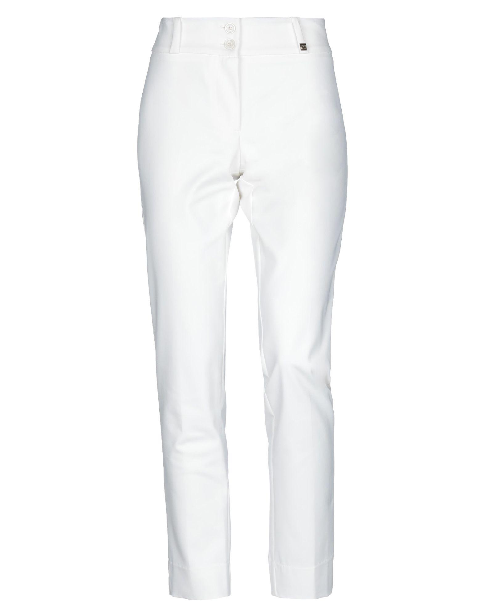 《セール開催中》TRY ME レディース パンツ ホワイト 46 コットン 95% / ポリウレタン 5%