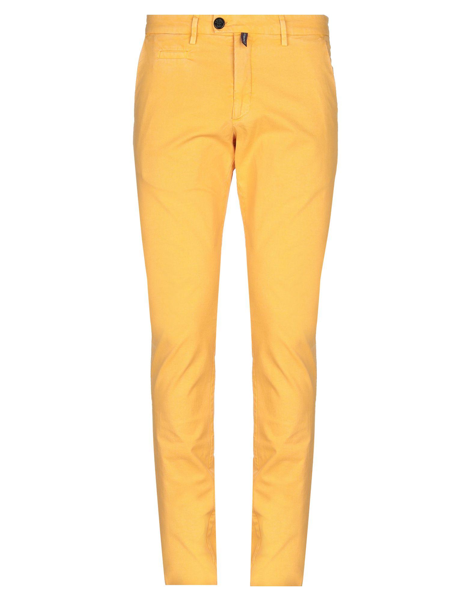 《セール開催中》E.MARINELLA メンズ パンツ あんず色 32 コットン 98% / ポリウレタン 2%