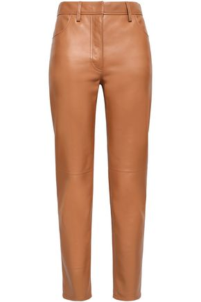 ROBERTO CAVALLI Leather straight-leg pants