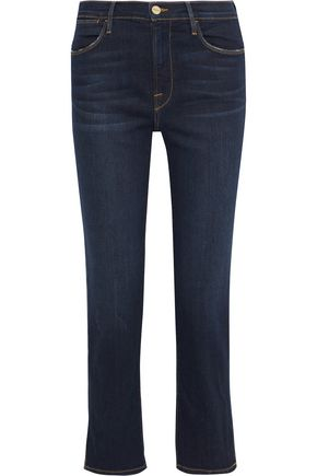 FRAME Le High mid-rise straight-leg jeans