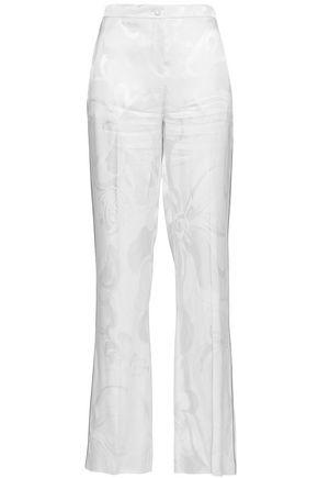 EMILIO PUCCI Satin-jacquard straight-leg pants