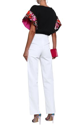 EMILIO PUCCI Button-detailed cotton-blend straight-leg pants