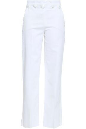 EMILIO PUCCI Button-detailed cotton-blend straight-leg pants