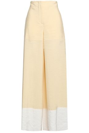 EMILIO PUCCI Two-tone silk-blend wide-leg pants