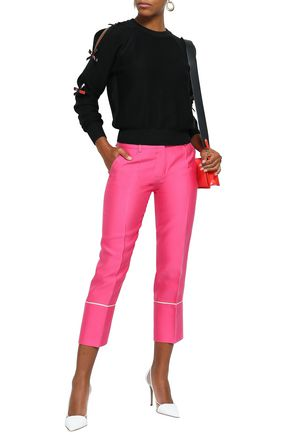 EMILIO PUCCI Cropped sateen slim-leg pants