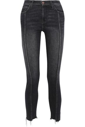 CURRENT/ELLIOTT The Ultra High Waist faded high-rise skinny jeans