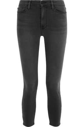 FRAME Ali cropped high-rise skinny jeans