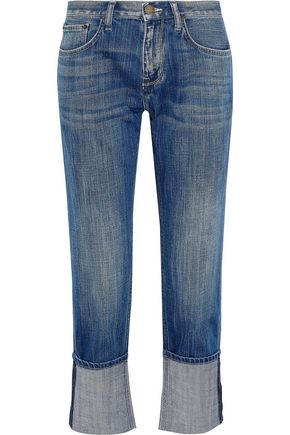 CURRENT/ELLIOTT The His cropped mid-rise boyfriend jeans