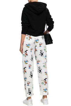 STELLA McCARTNEY Callie printed cotton-poplin straight-leg pants