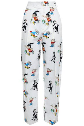 STELLA McCARTNEY Callie printed cotton-poplin straight-leg pants