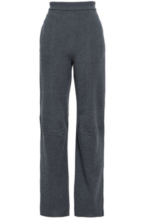 STELLA McCARTNEY Mélange wool straight-leg pants