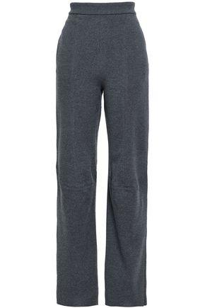 STELLA McCARTNEY Mélange wool straight-leg pants