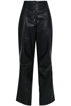 STELLA McCARTNEY Faux leather straight-leg pants