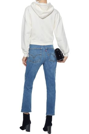 RE/DONE with LEVI'S Cropped studded high-rise slim-leg jeans