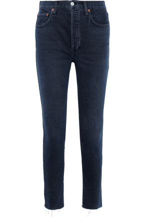 RE/DONE by LEVI'S Cropped high-rise skinny jeans