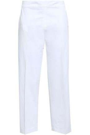 GENTRYPORTOFINO Cropped sub linen-blend tapered pants