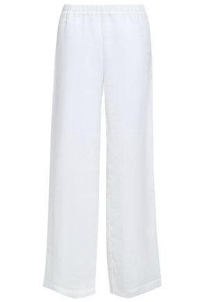 GENTRYPORTOFINO Ramie wide-leg pants