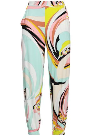 EMILIO PUCCI Printed stretch-jersey tapered pants