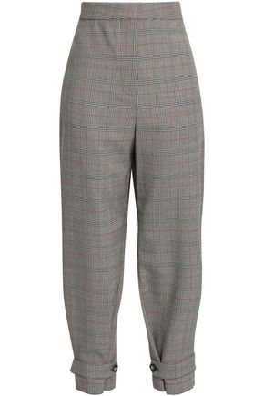 STELLA McCARTNEY Prince of Wales wool tapered pants