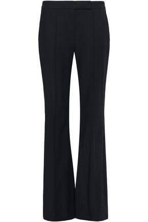 AMANDA WAKELEY Grosgrain-trimmed twill flared pants