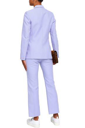 SANDRO Cropped cotton-blend bootcut pants