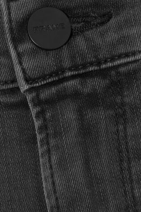 FRAME Ali split-front high-rise skinny jeans