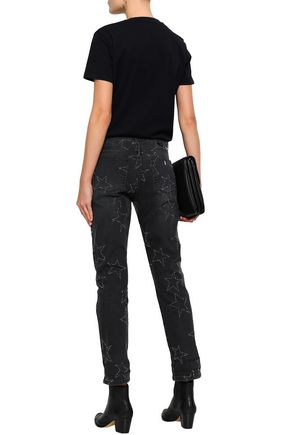 STELLA McCARTNEY Distressed mid-rise straight-leg jeans